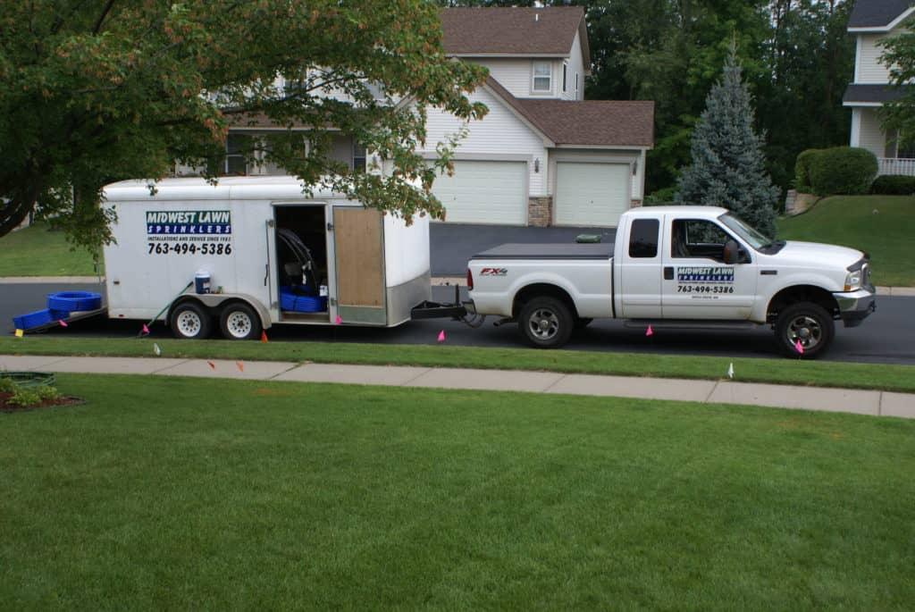New Construction Lawn Sprinkler Installation